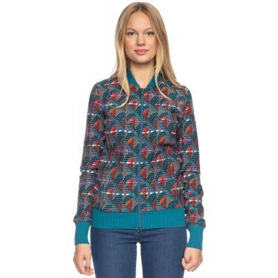 Sportjas Bebe, met jaquard patroon, turquoise