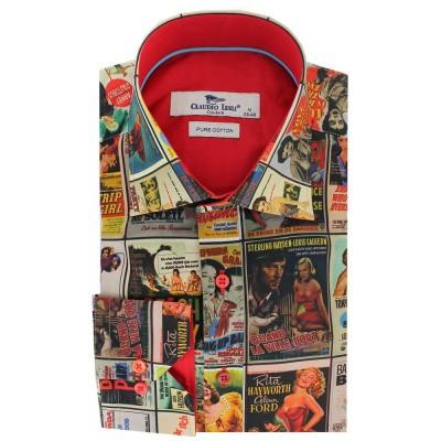 Claudio Lugli, overhemd met jaren 50 Film poster print