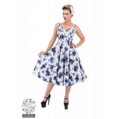 Foto van Jurk met Blauwe Bloemenprint Queensize