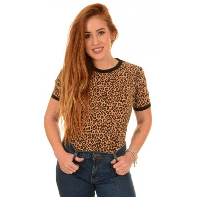 Foto van T-shirt, luipaard print