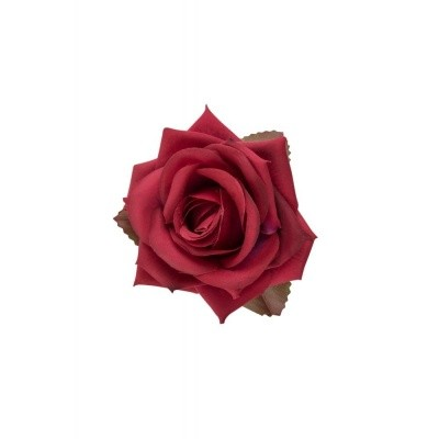 Foto van Haarclip, burgundy winter roos
