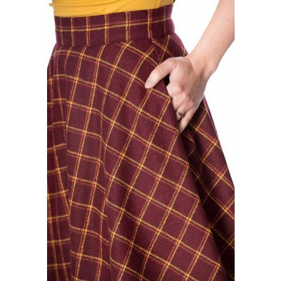 Foto van Rok Ladies Day, swingmodel geblokt, rood geel