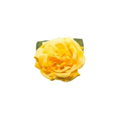 Foto van Haar clip Garden rose geel