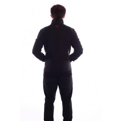 Foto van Vest Toni zwart rood retro patroon