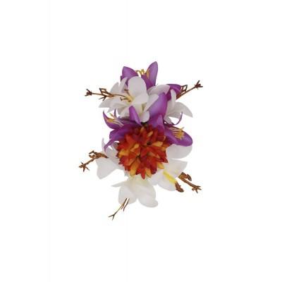 Foto van Haarclip / broche Kai, multikleur bloem