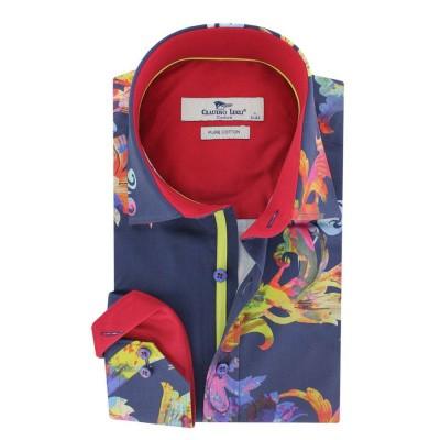 Foto van Overhemd lange mouw, silhouette paisley