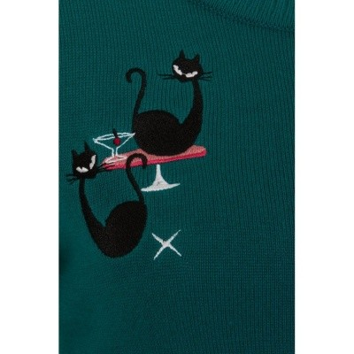 Foto van Cardigan Lucy, atomic cats teal