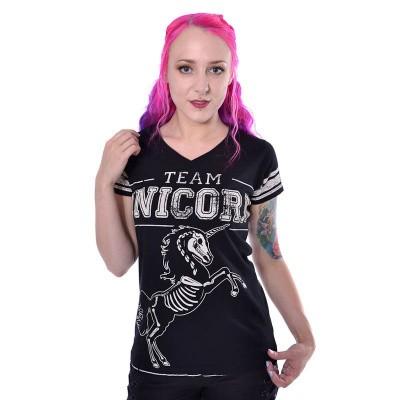 Foto van T-shirt Team Unicorn, zwart