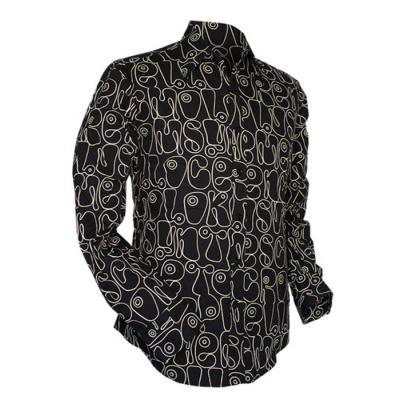 Foto van Chenaski | Zwart wit seventies overhemd Moloko