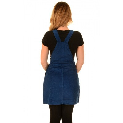Foto van Jurk Pinafore Ribcord Royal blue