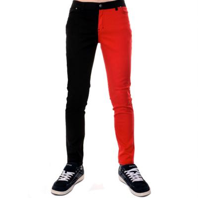 Foto van Run and Fly | Skinnyjeans Split Leg, zwart rood