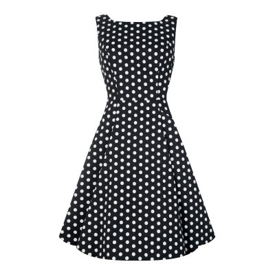 Foto van Collectif, jurk Hepburn polka dot doll