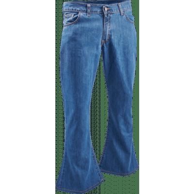 Foto van Denim retro broek classic blue, wijde pijp normale lengte
