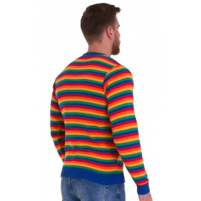 Foto van Jumper retro 70s rainbow