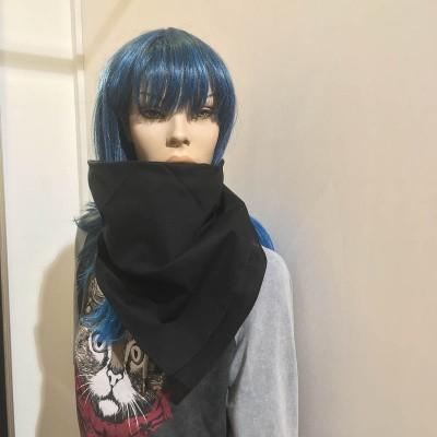 Foto van Bandana haarband en sjaal effen zwart