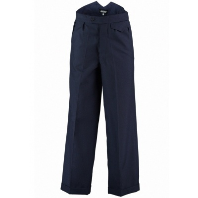 Fishtail broek Bertie, navy twill