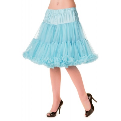 Foto van Petticoat Walkabout Knielang met extra volume licht-blauw