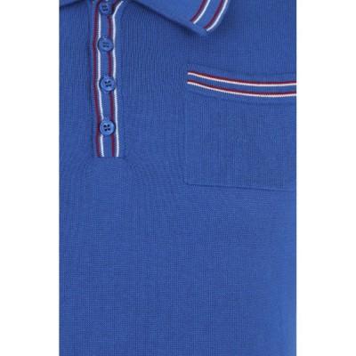 Foto van Polo Pablo, effen met knopen en borstzakje, blauw