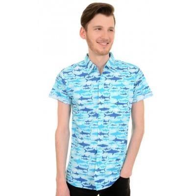 Overhemd met korte mouw retro haaien
