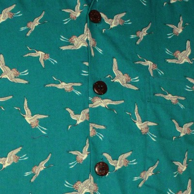 Foto van Chenaski | Overhemd korte mouw, Crane, turquoise
