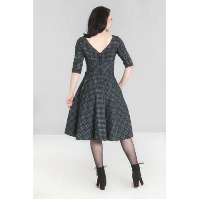 Foto van Hell Bunny | Groene 50's jurk Peebles met tartan motief