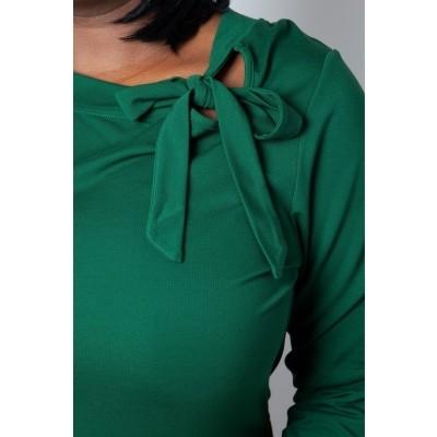 Foto van Top Melanie, groen met hals strik queensize