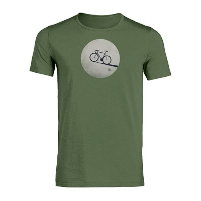 Foto van T-shirt Bike moon, staal groen bio katoen