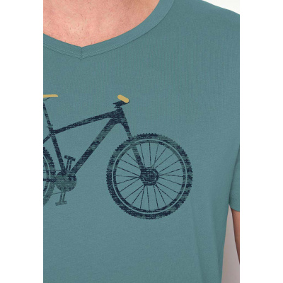 Foto van Green Bomb | T-shirt lichtblauw Bike Cross bio katoen