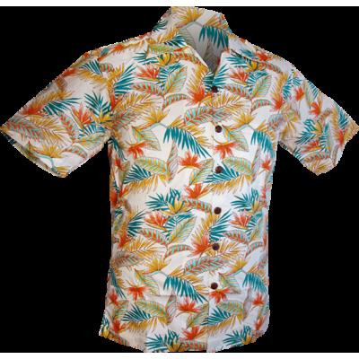 Foto van Overhemd korte mouw, Fern creme