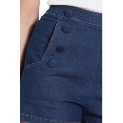 Foto van Hotpants May met hoge taille van denim met knopen