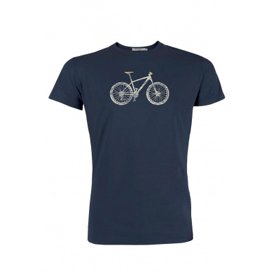 Green Bomb | T-shirt navy Bike Cross bio katoen