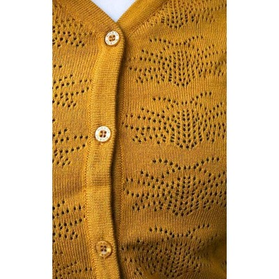 Foto van Cardigan Bee, pointellie gold