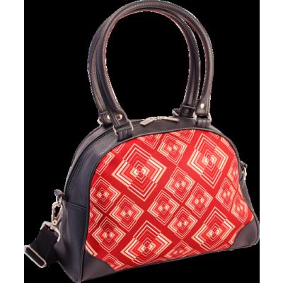 Foto van Handtas bowlingbag model, Rhombus rust