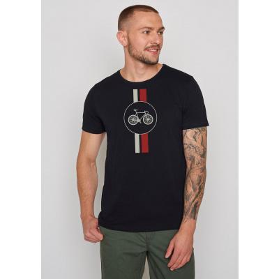 Foto van Green Bomb | T-shirt Bike Highway, zwart bio katoen