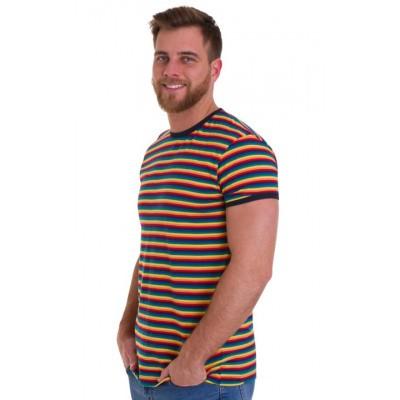 T-Shirt Retro met regenboogprint