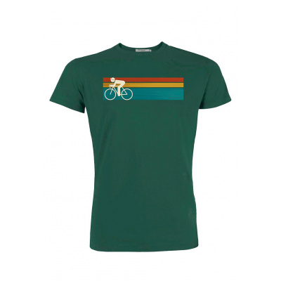 Foto van Green Bomb | T-shirt Bike speed, bio katoen, bottle green
