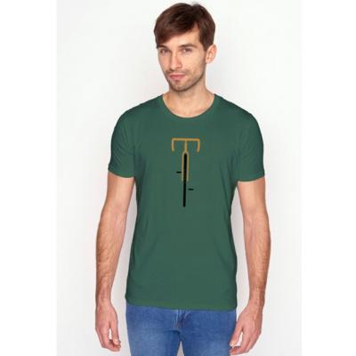 Foto van Green Bomb | T-shirt groen Bike Lauft bio katoen