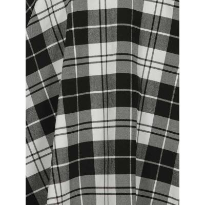 Foto van Collectif | Skater skirt met bretels Lexi Monochrome zwart wit geruit