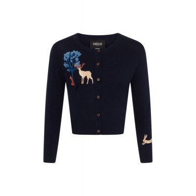 Foto van Cardigan vintage Jessie forest friends navy