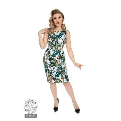 Jurk Felicity, floral wiggel model