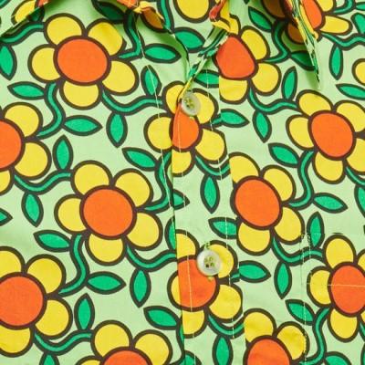 Foto van Overhemd Seventies Flowergrid, green