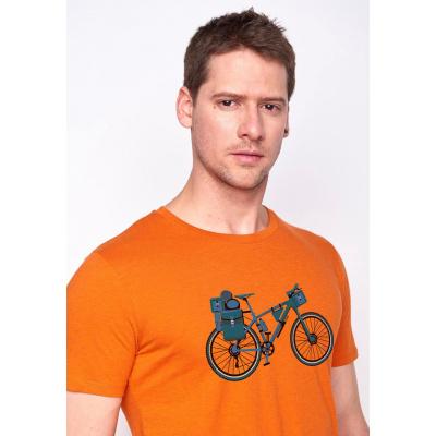 Foto van Green Bomb | T-shirt oranje Bike Nomad bio katoen