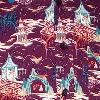 Foto van Chenaski | overhemd seventies, Cave Temple aubergine