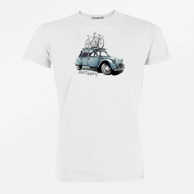 Foto van T-Shirt Bike road tripping bio katoen