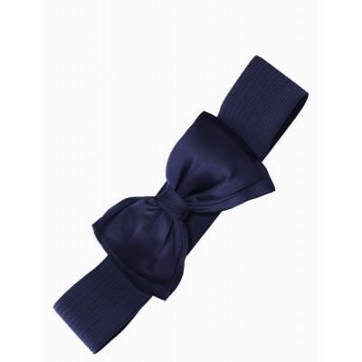 Elastiekriem met Strik Bella Navy-blue