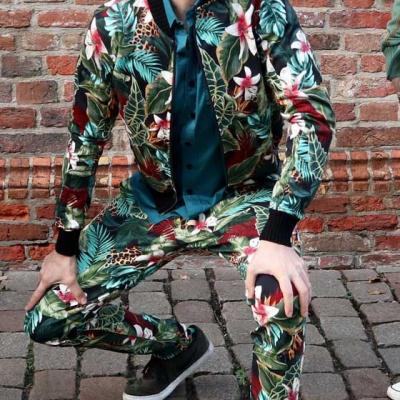 Foto van Ato Berlin | pantalon Dino tropische print