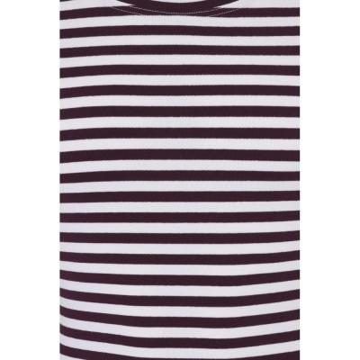 Foto van T-shirt met lange mouw gestreept, creme navy