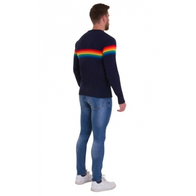 Foto van Jumper, navy Retro Rainbow
