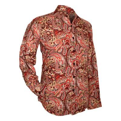 Foto van Chenaski | overhemd seventies, Paisley brown