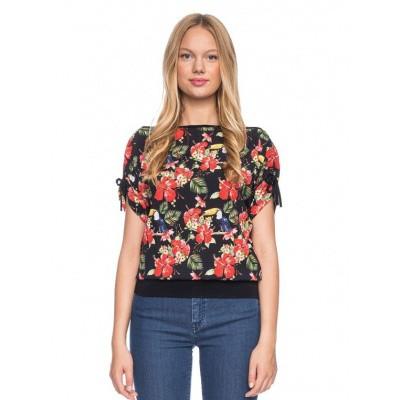 Ato Berlin, T-shirt Mona bloemen toekan patroon